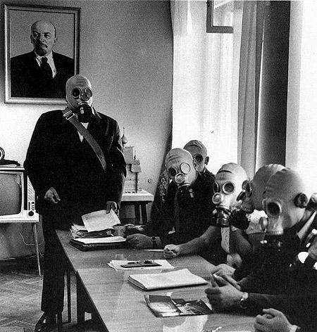 Lenin and gas masks