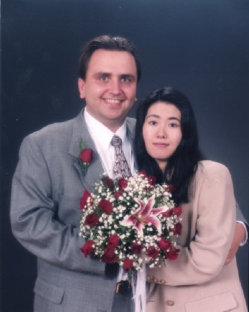 Yuri and Sayaka Panchul. Wedding photo. October, 1998.